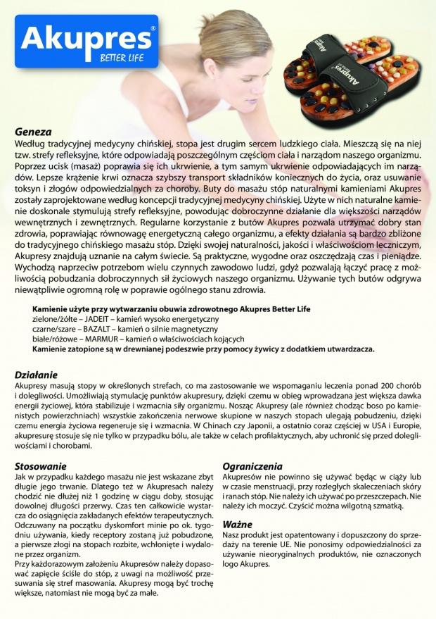 c1b0a1627ddf1 Oferuję sprzedaż BUTÓW AKUPRES do masażu naturalnymi kamieniami. Heat, Soft  oraz Classic